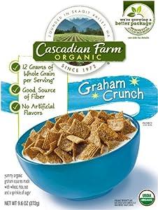 Cascadian Farm Organic Graham Crunch Cereal, 9.6 Ounce