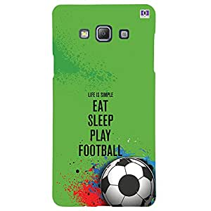 Eat Sleep Play Football - Mobile Back Case Cover For Samsung Galaxy A7 (2015)