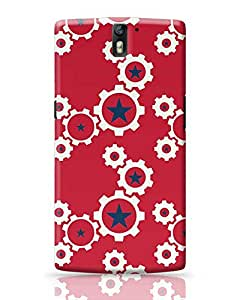 PosterGuy OnePlus One Case Cover - Star Wheel with red background | Designed by: Codeburnerz Technologies