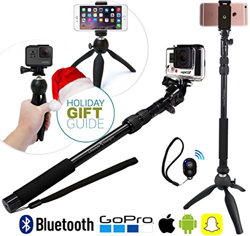 premium hd selfie stick tripod 3 in 1 photo kit for new gopro iphone 6s 6 plus android or. Black Bedroom Furniture Sets. Home Design Ideas