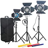Came-TV Fresnel Tungsten Video Spot Lights, 2x 1000W & 1x 650W