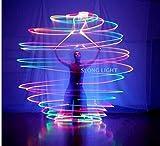 Amazon.co.jpCOCOHOP LED Poi ポイ 7色 に光る イルミネーション ジャグリング 単純だけど奥深い ライブ や パーティー 左右 セット