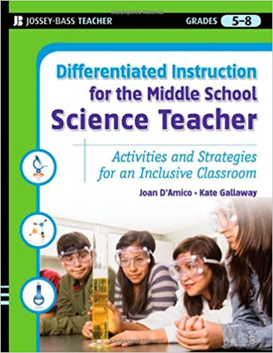 Differentiated instruction for the middle school science teacher book cover