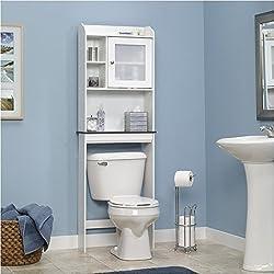 over the toilet bathroom shelves ideas - Bathroom Shelf Ideas