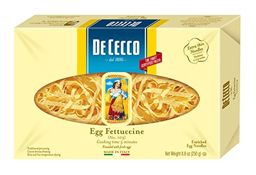 De Cecco Pasta, Egg Fettuccine, 8.8 Ounce (Pack of 4) (De Cecco Egg Pasta compare prices)