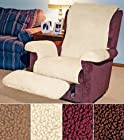 COZY FLEECE RECLINER COVER - CAMEL