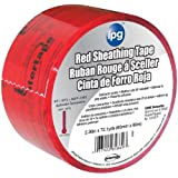 5560CNDR 2.36-Inch by 72.1-Yard Sheathing Tape, Red/Black Print