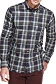 Blue Harbour Pure Cotton Multi Checked Oxford Shirt [T25-7874B-S]