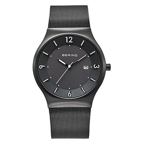 Bering Time  0 - Reloj de cuarzo para hombre, con correa de acero inoxidable, color negro