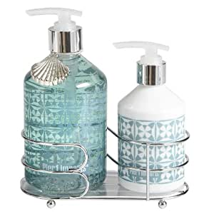 Pier 1 imports sea air soap lotion caddy Hand wash and lotion caddy
