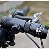 CREE Q5 LED Zoomable Flashlight with Mount Holder for Bike Cycling Outdoor (Flashlight with Mount)