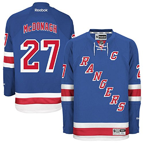 Ryan McDonagh New York Rangers #27 Captain NHL Youth Premier Stitched Home Jersey Blue (Youth L/XL) (New York Ranger Youth Jersey compare prices)