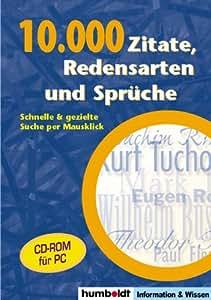 Amazon.com: 10.000 Zitate, Redensarten und Sprüche. CD-ROM für