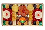 Garry's Dried Fruit Packs 2 Pound of Christmas Hanukkah Holiday Thanksgiving Dried Fruits Wooden Basket