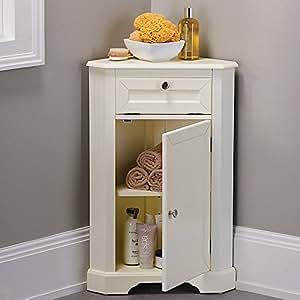 weatherby bathroom corner storage cabinet cream