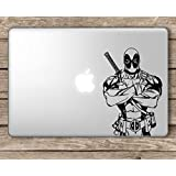 CVANU Deadpool Upper Body Marvel Superhero Laptop Vinyl Sticker (Black)