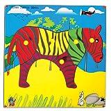 Skillofun Skillofun Theme Puzzle Standard Zebra Knobs Multi Color