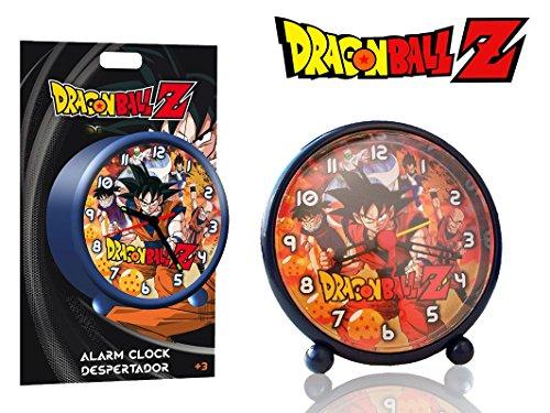 Orologio sveglia tonda da comodino DRAGON BALL Z 9 cm decorato con GOKU e i suoi amici DB16274. MWS