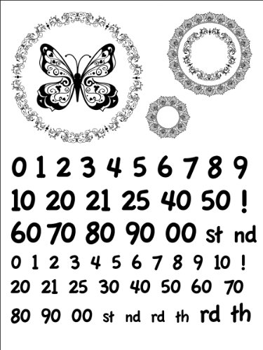 Stamping Scrapping Spellbinders Matching Clear Stamps Fancy Numbers
