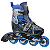 Roller Derby Boys Tracer Adjustable Inline Skate, Medium