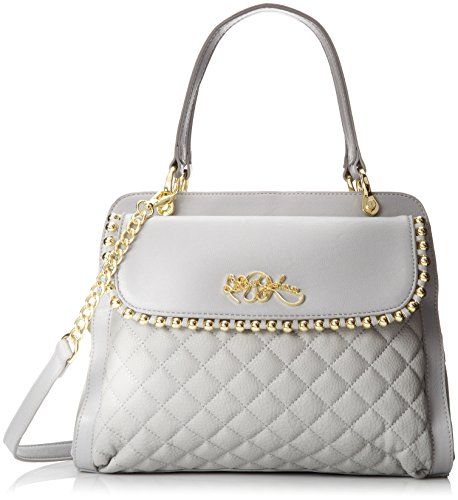 Betsey Johnson Betseys Ball and Chain Satchel,Grey,One Size