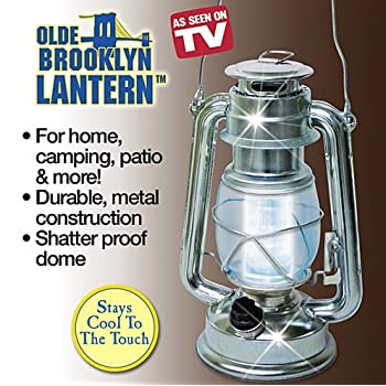 Olde Brooklyn Lantern the vintage style lantern with today's LED lighting technology. Now you can enjoy the soft light of an antique lantern without the danger of an open flame. The Olde Brooklyn Lantern, as seen on TV, stays cool to the touch and ha...