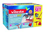 Vileda 133853 Starter Set (Box) Cleaning Equipment with Ultramat System / Ultramat bucket / FeWi professional Hand-Held Device and Super 2-in-1 Dustpan