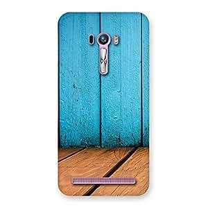 Special Wood Cyan Back Case Cover for Zenfone Selfie
