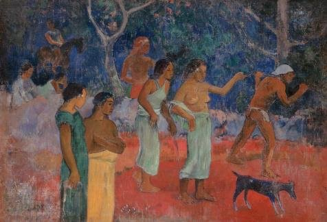 'Paul Gauguin-Scene From Tahitian Life,1896' Oil Painting, 8x12 Inch / 20x30 Cm ,printed On High Quality Polyster Canvas ,this High Definition Art Decorative Canvas Prints Is Perfectly Suitalbe For Wall Art Decoration And Home Decor And Gifts