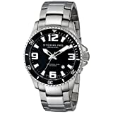Stuhrling Original Men's 395.33B11 Aquadiver Regatta Champion Swiss Quartz Date Stainless Steel Dive Watch