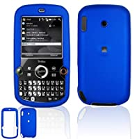 Palm Treo Pro 850 Dark Blue Rubberize Textured Snap-On Case Cover with Removable Swivel Belt Clip