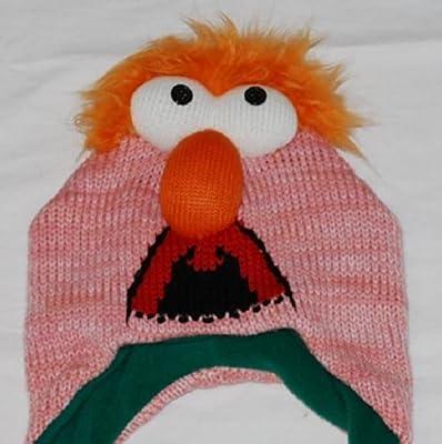 Muppet Sesame Street Disney Beaker Hat Fleece Ski Hat Beanie Cap Laplander Winter Teen Adult