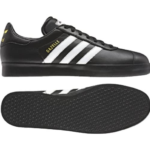 Adidas Gazelle 2 Leather Shoes (Black/White/Black) V24419