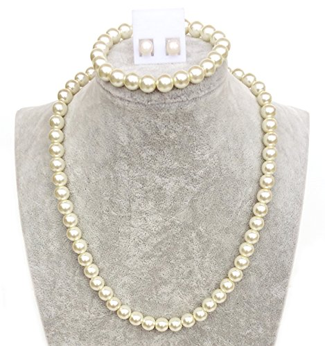 vintage-ladies-faux-pearl-necklace-set-with-bracelet-and-earrings-17-inches-8mm-cream-with-gift-bag