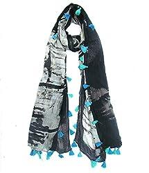 Lotsa Fashion Modal Digital Plam Tree Print Scarf For Women,s & Girl,s