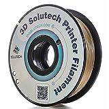 3D Solutech Real Gold 3D Printer PLA Filament 1.75MM Filament, Dimensional Accuracy +/- 0.03 mm, 2.2 LBS (1.0KG) - 100% USA (Color: Blue)