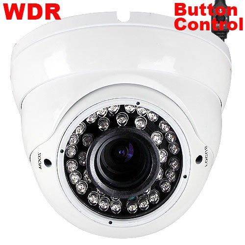 "Best Sale 700Tvl 1/3"" Sony Ccd Dome Vandalproof Cctv Indoor Security Camera - 36 Ir Leds, Vari-Focal 2.8-12Mm Manual Zoom Lens"