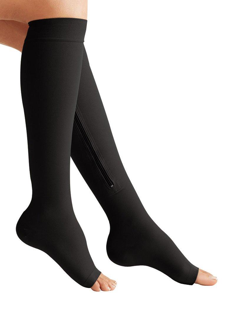 zipper compression socks small black ebay