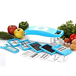 BMS Lifestyle Smart-03 12in1 Multi-Function Chopper Nicer Slicer Dicer - Vegetable & Fruit Slicer, Cutter, Grater, Peeler for salads (Sky Blue,1 Year Warranty)