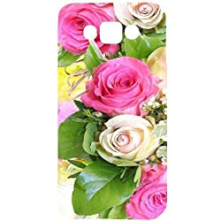 Casotec Rose Flowers Print Design Hard Back Case Cover for Samsung Galaxy E7