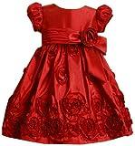 Bonnie Jean Little Girls' Taffetta Dress With Rosette Border