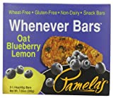 Pamelas Products Wheat Free & Gluten Free  Whenever Bars Oat Blueberry Lemon, 5 Count Box, 7.05-Ounce (Pack of 6)