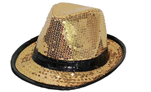 スパンコール 帽子 衣装 ハット フェドラハット 中折れ ダンス衣装 7カラー アメリカ輸入