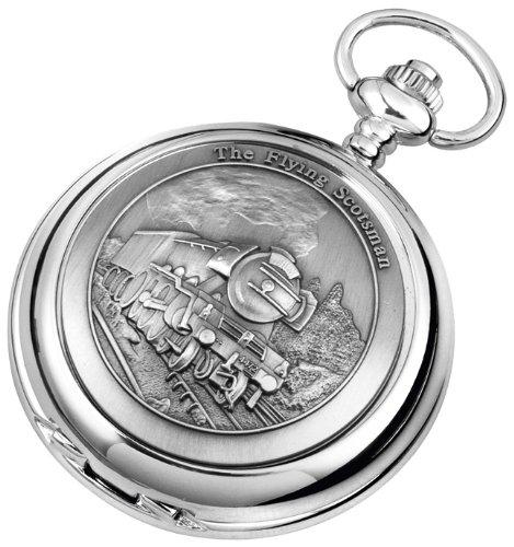 Pocket Watch - Quartz Movement - FLYING SCOTSMAN Steam Train - with chain, presentation case, warranty & booklet