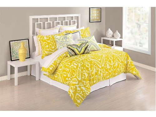 Trina Turk Ikat Duvet Cover & Shams Yellow King front-781123