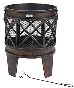 """tepro 1127 """"Gracewood"""" Fire Basket - Bronze (12-Piece)"""