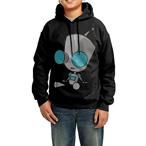 [QSDFE Youth Unisex Sweatshirt Invader Zim Doom Black Size L] (The Sims 3 Costume Chest)
