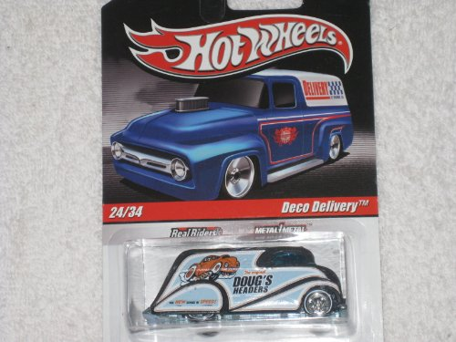 HOT WHEELS Slick Rides (Delivery) 24/34 Deco Delivery (Doug'sHeaders) * Real Riders * Metal/Metal - 1