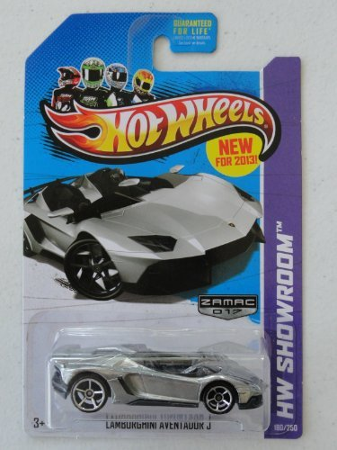 Hot Wheels Walmart Exclusive Zamac Lamborghini Aventador J #017
