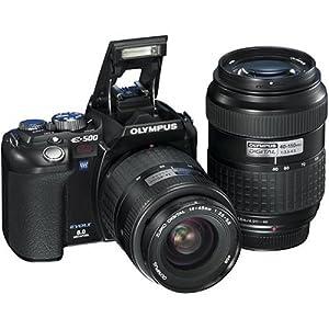 Olympus Evolt E500 8MP Digital SLR with 14-45mm f/3.5-5.6 & 40-150mm f/3.5-4.5 Zuiko Lenses